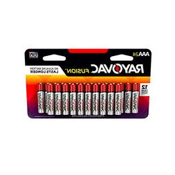 RAYOVAC AAA 24-Pack FUSION Premium Alkaline Batteries, 824-2