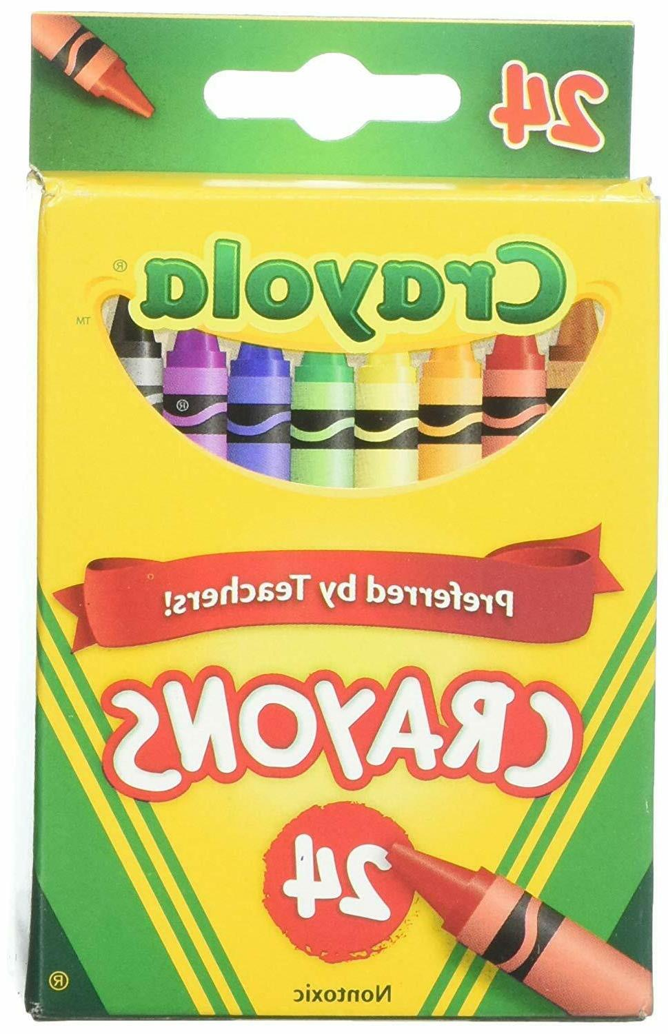 24 count box of crayons non toxic