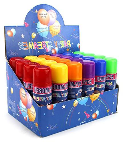 24 Streamer Spray a Can Party Parties/Events