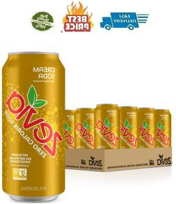 Zevia Zero Calorie Cream Soda, Naturally Sweetened, 12 Fl Oz